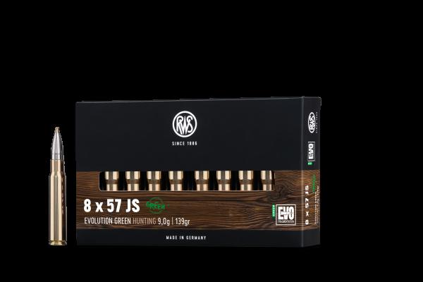 RWS 8X57 JS EVO GREEN 9,0G 139GR 20ER