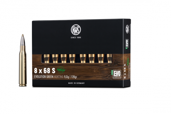 RWS 8X68 S EVO GREEN 9,0G 139GR 20ER
