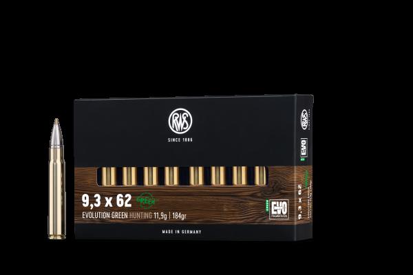 RWS 9,3X62 EVO GREEN 11,9G 184GR 20ER