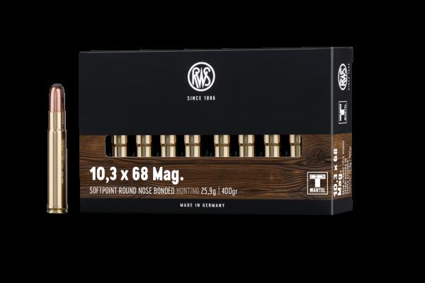 RWS 10,3X68 MAG RWS SOFTPOINT 25,9G 20ER