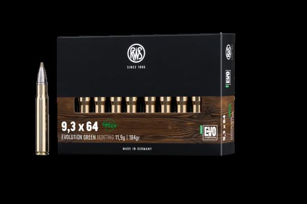 RWS 9,3X64 EVO GREEN 11,9G 184GR 20ER