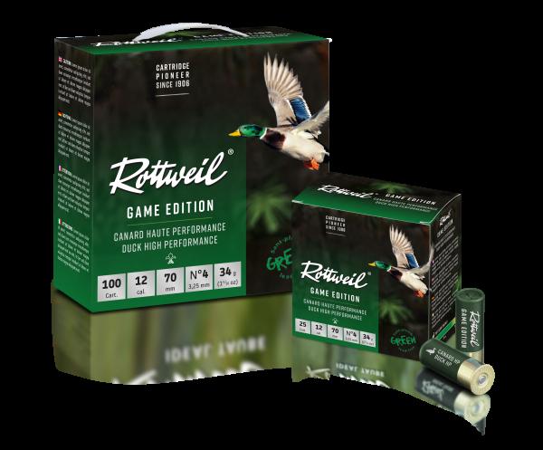 Rottweil GAME EDITION ENTE 12/70 3,25MM 100ER
